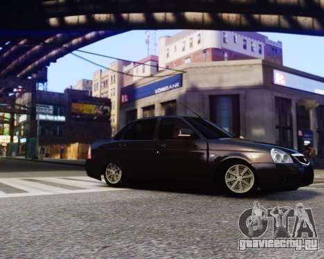 Lada Priora для GTA 4 вид сзади слева