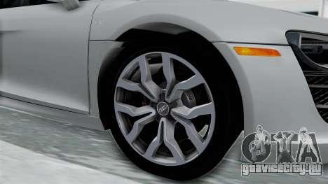Audi R8 V10 2010 для GTA San Andreas вид сзади