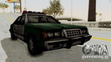 GTA VC Police Car для GTA San Andreas вид сзади слева