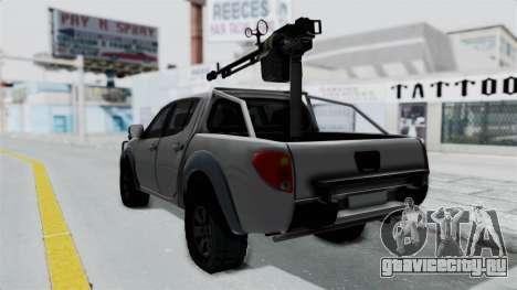 Mitsubishi L200 Army Libyan для GTA San Andreas вид слева