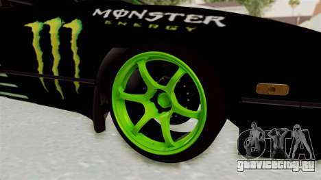 Nissan 240SX Drift Monster Energy Falken для GTA San Andreas вид сзади