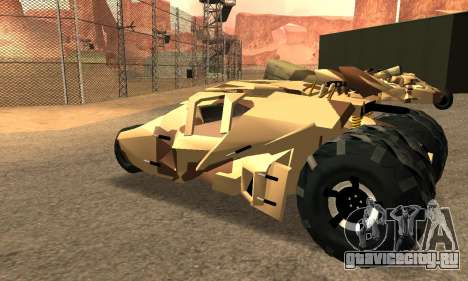 Army Tumbler Rocket Launcher from TDKR для GTA San Andreas вид снизу