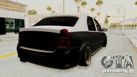 Dacia Logan Facelift Stance для GTA San Andreas вид слева