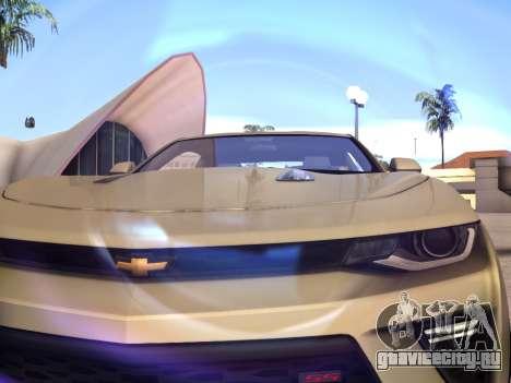 Chevrolet Camaro SS 2016 для GTA San Andreas вид сзади