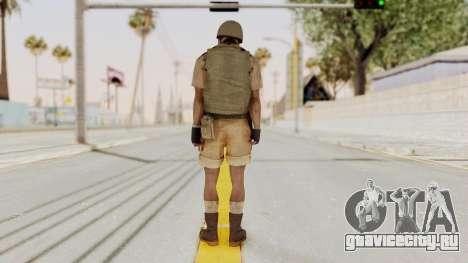 MGSV Phantom Pain CFA Vest v1 для GTA San Andreas третий скриншот