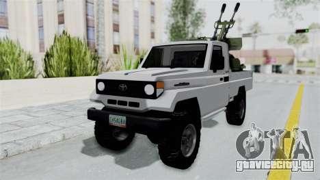 Toyota Land Cruiser Libyan Army для GTA San Andreas вид справа