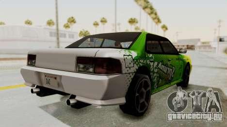 Sprunk Sultan для GTA San Andreas вид сзади слева