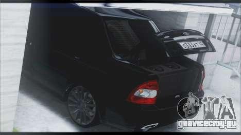 Lada Priora Sedan для GTA San Andreas салон