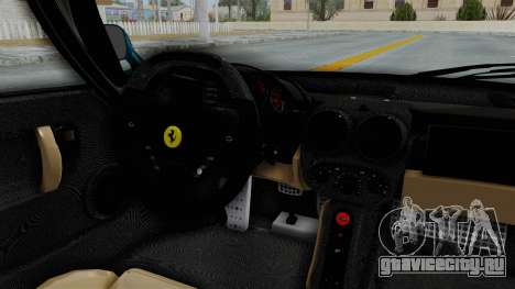 Ferrari Enzo для GTA San Andreas вид изнутри