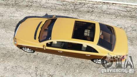 Maybach 62 S для GTA 5 вид сзади