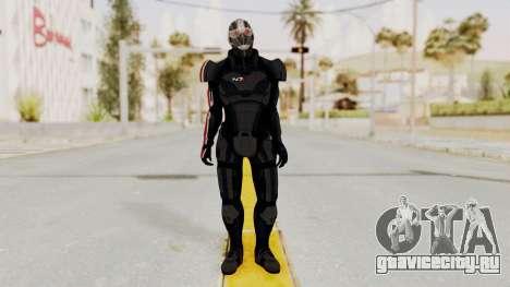 ME2 Shepard Default N7 Armor Recoon Hood Helmet для GTA San Andreas второй скриншот