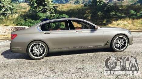 BMW 750Li xDrive (G12) 2016 для GTA 5 вид слева