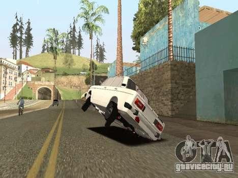 BA3 2106 АВТОС для GTA San Andreas вид сзади слева