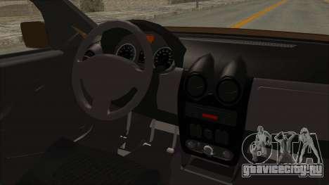Dacia Logan MCV Van для GTA San Andreas вид изнутри