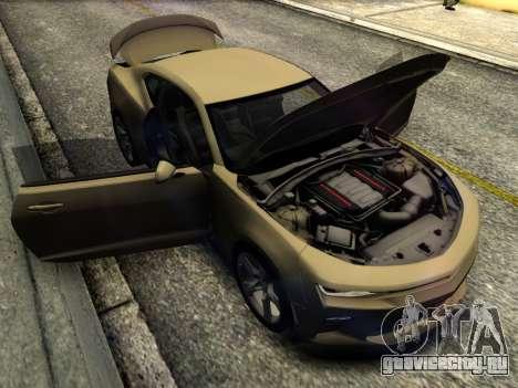 Chevrolet Camaro SS 2016 для GTA San Andreas вид изнутри