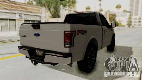 Ford Lobo XLT 2015 Single Cab для GTA San Andreas вид сзади слева