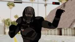 Mass Effect 2 Shepard Default N7 Armor Helmet для GTA San Andreas