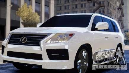 Lexus Lx 570 2014 sport для GTA 4