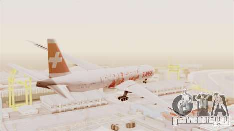 Boeing 777-300ER Faces of SWISS Livery для GTA San Andreas вид справа