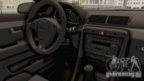 Audi A4 2002 Stock для GTA San Andreas вид сзади