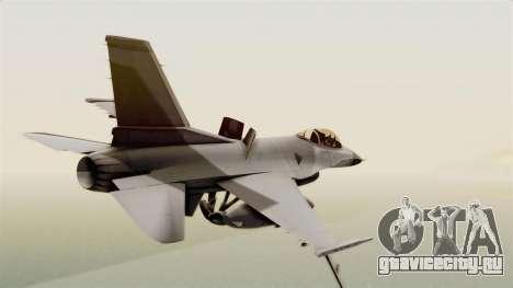 F-16 Fighting Falcon для GTA San Andreas вид слева