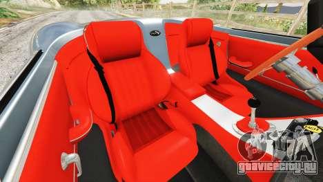 Eagle Speedster 2012 для GTA 5 руль и приборная панель