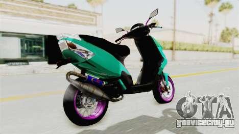 Piaggio 200 CC Lockstyle для GTA San Andreas вид слева