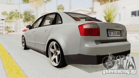 Audi A4 2002 Stock для GTA San Andreas вид справа