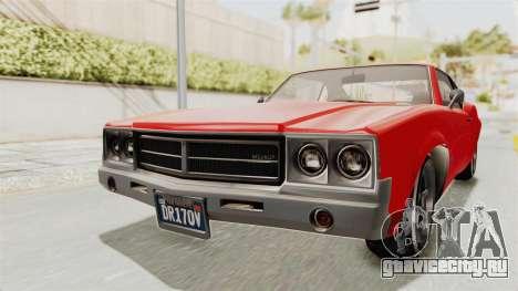 GTA 5 Declasse Sabre GT2 IVF для GTA San Andreas вид справа