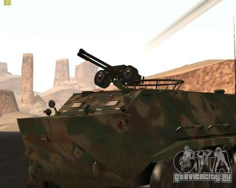 БТР 60 ПА для GTA San Andreas вид сзади слева