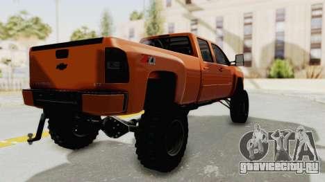 Chevrolet Silverado Long Bed для GTA San Andreas вид сзади слева