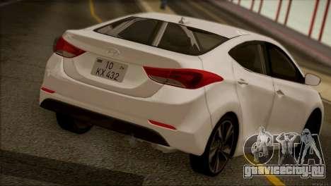 Hyundai ELANTRA 2015 STOCK для GTA San Andreas вид сзади