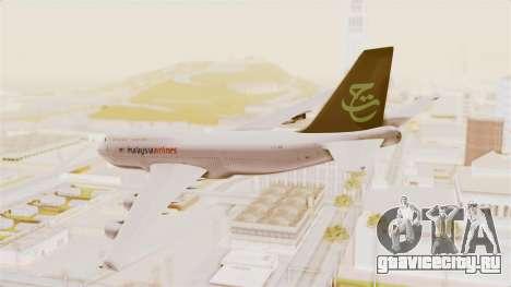 Boeing 747-400 Malaysia Airlines Tabung Haji для GTA San Andreas вид слева