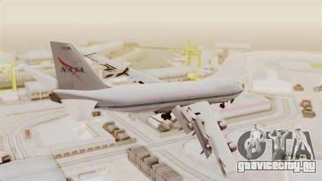 Boeing 747-123 NASA для GTA San Andreas вид слева