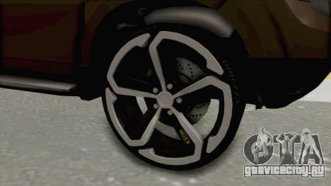 Dacia Duster 2010 Tuning для GTA San Andreas вид сзади
