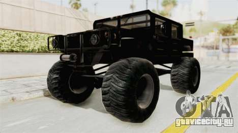 Hummer H1 Monster Truck TT для GTA San Andreas вид справа