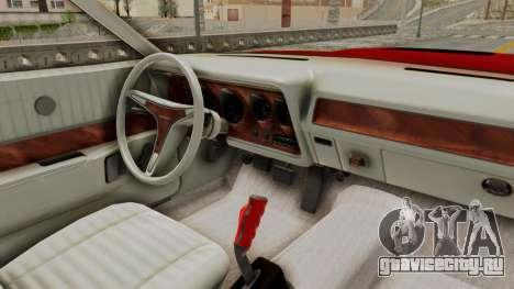 Dodge Charger 1971 Monster Truck для GTA San Andreas вид сзади