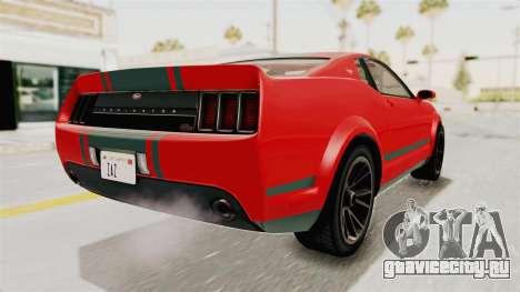 GTA 5 Vapid Dominator v2 SA Lights для GTA San Andreas вид слева