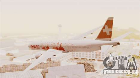 Boeing 777-300ER Faces of SWISS Livery для GTA San Andreas вид слева