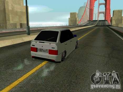VAZ 2114 KBR для GTA San Andreas вид изнутри