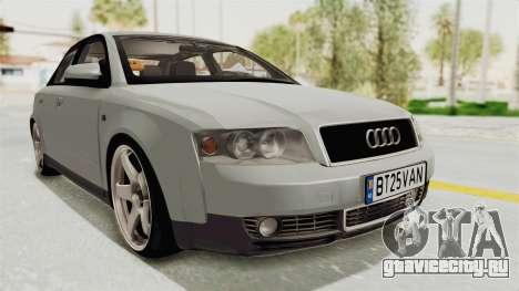 Audi A4 2002 Stock для GTA San Andreas вид сзади слева
