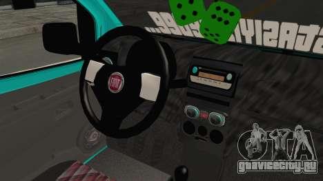 Fiat Fiorino v2 для GTA San Andreas вид изнутри
