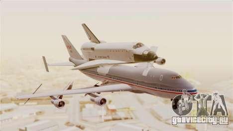 Boeing 747-123 Space Shuttle Carrier для GTA San Andreas вид сзади слева