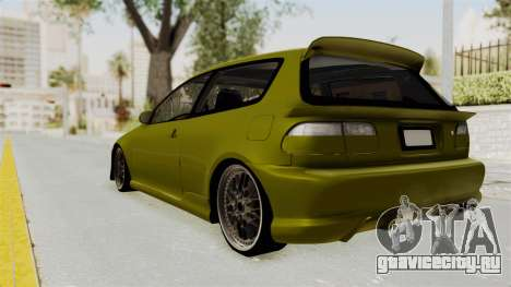 Honda Civic Fast and Furious для GTA San Andreas вид слева