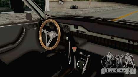 Dacia 1300 Stance Police для GTA San Andreas вид изнутри
