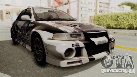 Mitsubishi Lancer Evolution VI Tenryuu Itasha для GTA San Andreas
