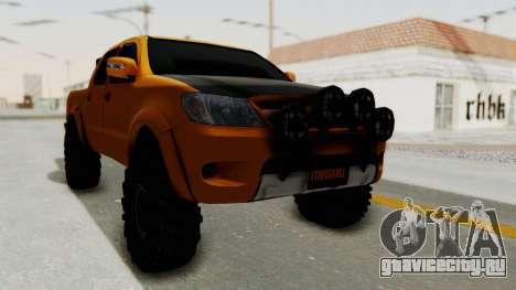Toyota Hilux 2010 Off-Road Swag Edition для GTA San Andreas вид сзади слева