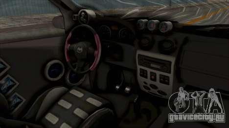 Dacia Logan Loco Tuning для GTA San Andreas вид изнутри
