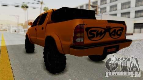 Toyota Hilux 2010 Off-Road Swag Edition для GTA San Andreas вид слева