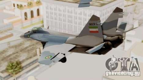MIG-29A IRIAF для GTA San Andreas вид справа